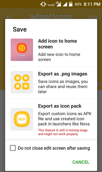 Create Custom Icons On Android, Use It As Home Screen, Export As