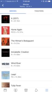 Facebook App Gets Movies