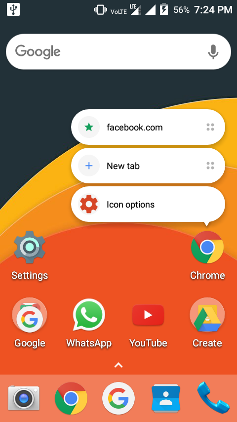 how to make chrome shortcuts appear as icons