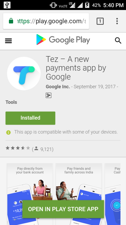 Google Play Store Site Now Has Open In Play Store Button