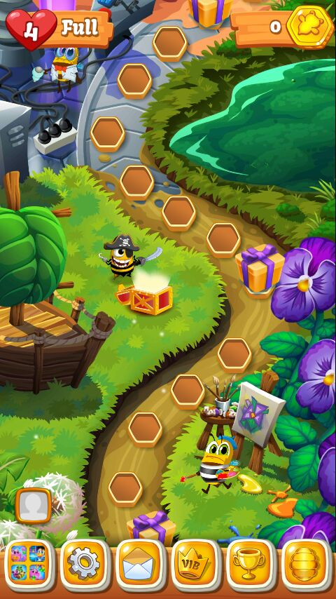 Bee Brilliant Blast Puzzle Game For Android Like Candy Crush Mrguider