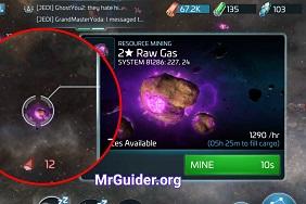 Star Trek Fleet Command Mining Gas
