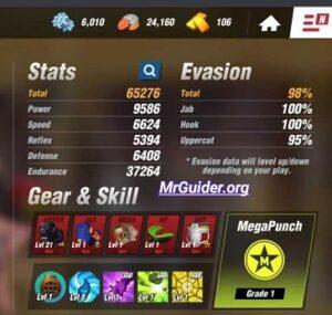 Increase HP Reflex Stats Boxing Star