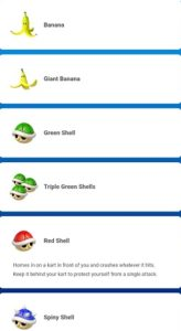Mario Kart Tour Items