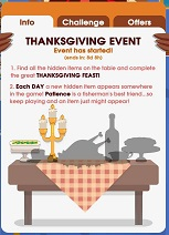 Hooked Inc Thanksgiving Event