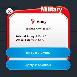 BitLife - Life Simulator Army Officer Enlistee