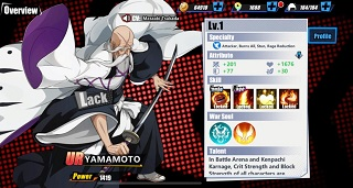 Bleach Immortal Soul List of Characters Tier