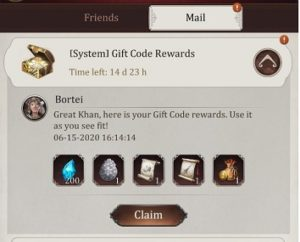 Game of Khans Gift Codes To Redeem