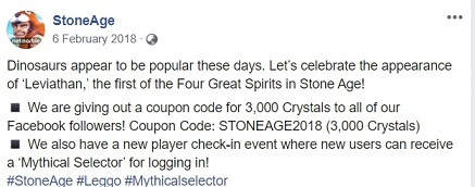 StoneAge World Game Coupon Codes To Redeem Gift