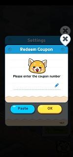 Aggretsuko Redeem Coupon Codes