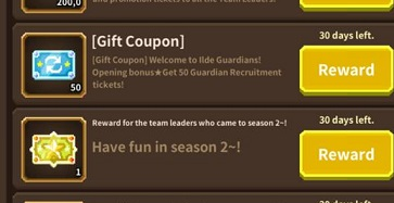 Idle Guardians Code Gift Coupon