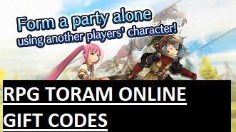 RPG Toram Online Gift Codes