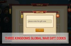 Three Kingdoms Global War Gift Codes