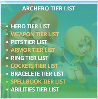 Archero Tier List