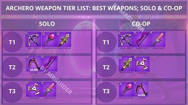 Archero Weapon Tier List S