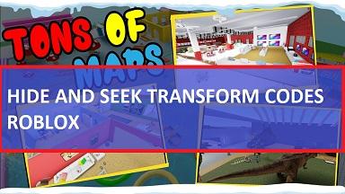 Hide and Seek Transform Codes Roblox