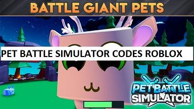 Pet Battle Simulator Codes Roblox