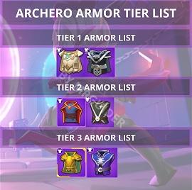 Archero Tier List Armor Tier List