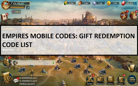 Empires Mobile Codes