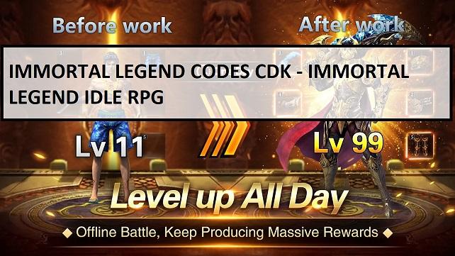 Immortal Legend Codes CDK