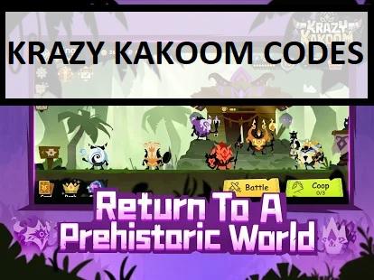 Krazy Kakoom Codes