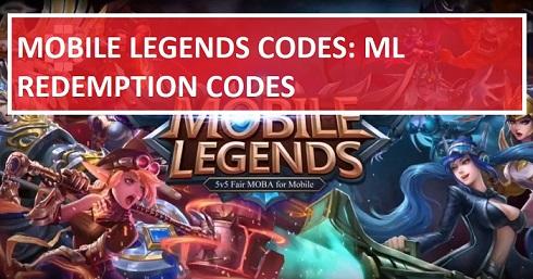 Mobile Legends Codes ML Redemption Codes