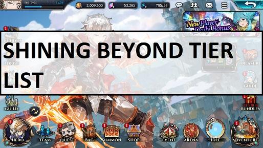 Shining Beyond Tier List