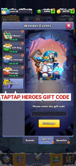 TapTap Heroes Gift Code