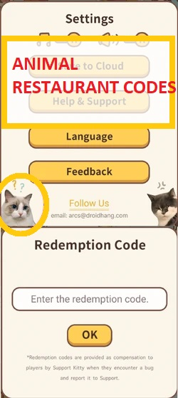 Animal Restaurant Codes