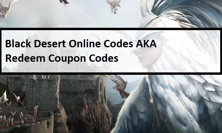 Black Desert Online Codes