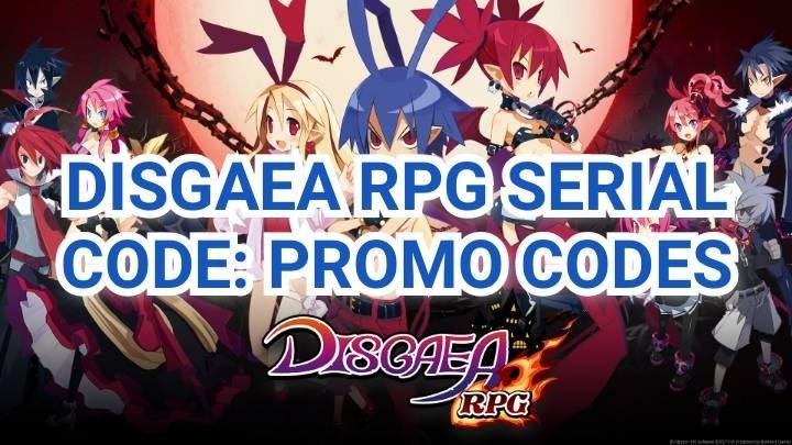 Disgaea RPG Serial Code Promo Codes