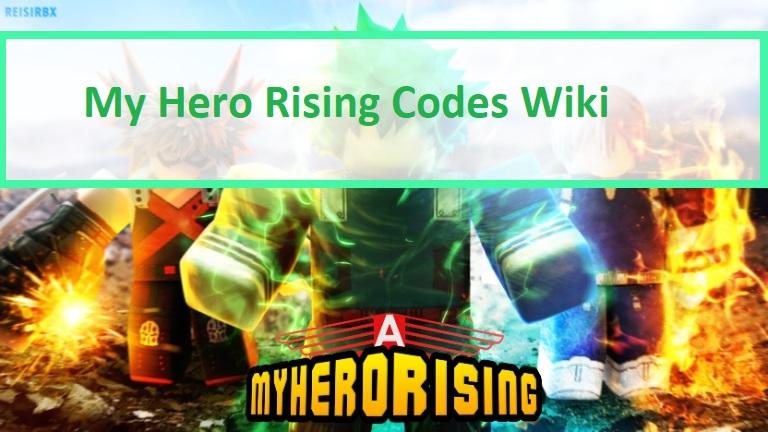 My Hero Rising Codes Wiki
