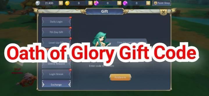 Oath of Glory Gift Code