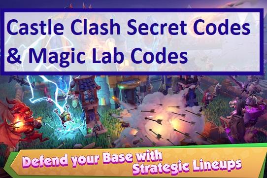 Castle Clash Secret Codes