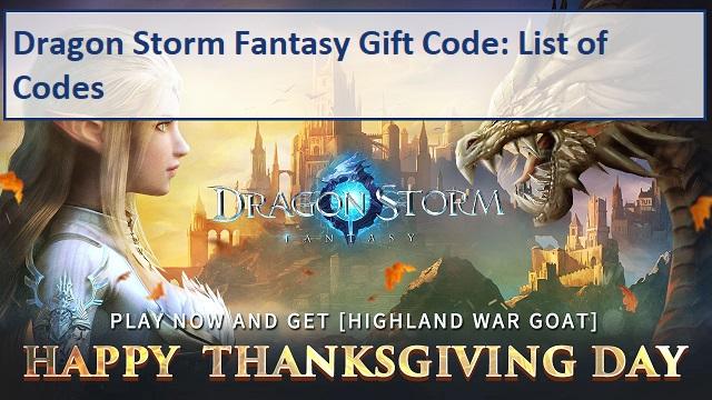 Dragon Storm Fantasy Gift Code