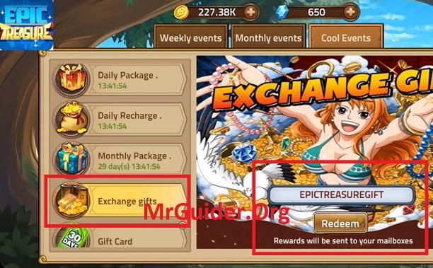 Epic Treasure Codes Gift Code