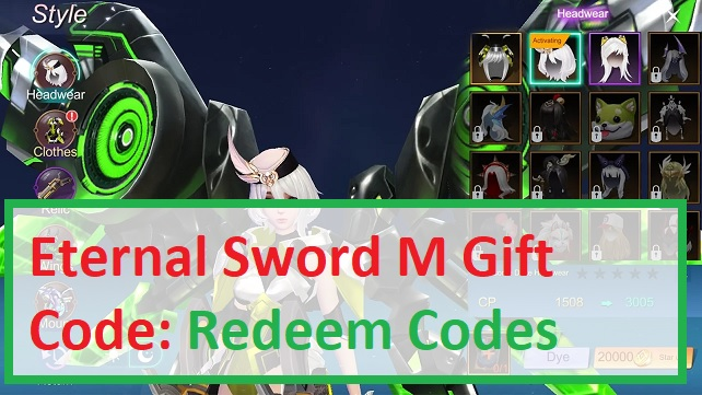 Eternal Sword M Gift Code Redeem Codes