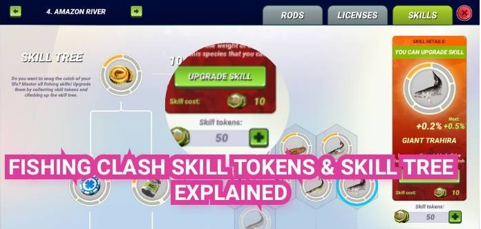 Fishing Clash Skill Tokens Skill Tree Explained
