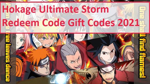 Hokage Ultimate Storm Redeem Code Gift Codes