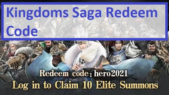 Kingdoms Saga Redeem Code