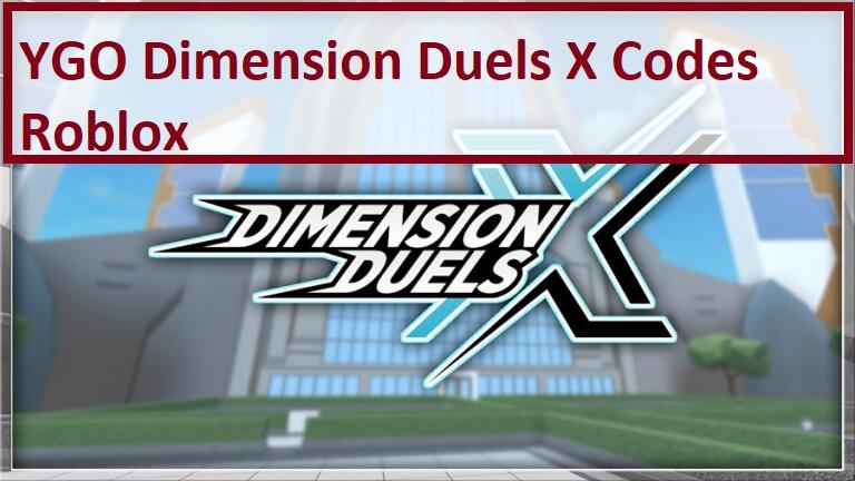 YGO Dimension Duels X Codes Roblox