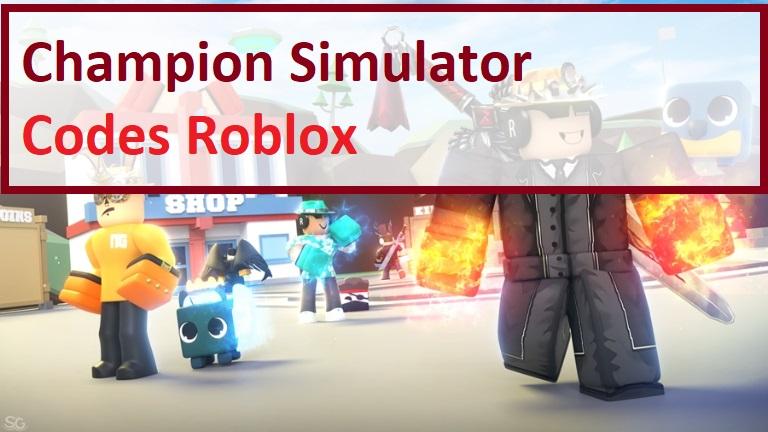 Champion Simulator Codes Wiki Roblox