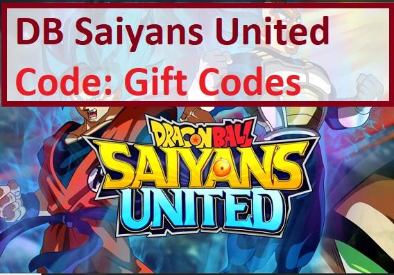 DB Saiyans United Code Gift Codes