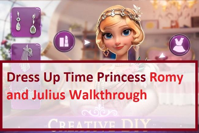Dress Up Time Princess Romy and Julius Walkthrough