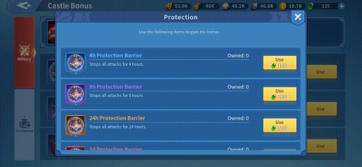 Infinity Kingdom Warehouse and Protection Barrier