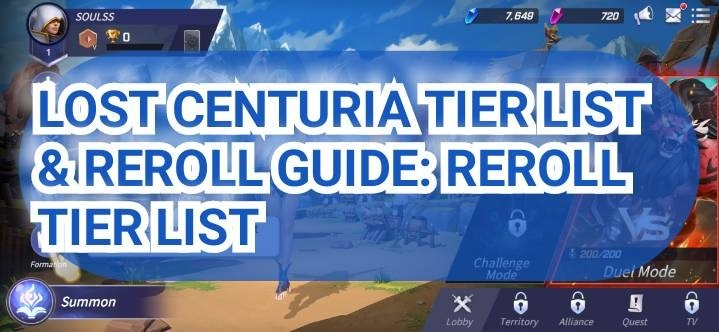 Lost Centuria Tier List Reroll Guide