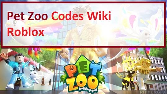 Pet Zoo Codes Wiki Roblox