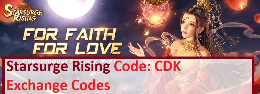Starsurge Rising Code CDK Exchange Codes