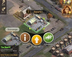 TWD Survivors Game Troop Capacity Square Formation