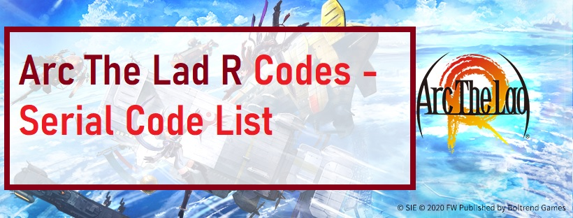 Arc The Lad R Codes Serial Code